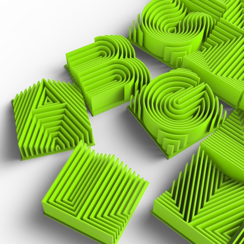 3D raidynas